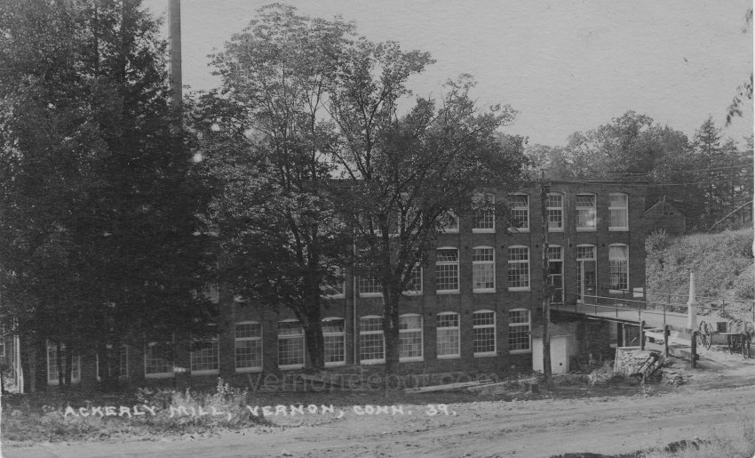 Ackerly Mill as it appeared in 1939, Vernon, Connecticut