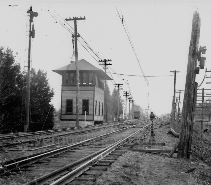 Vernon Depot Signal Station 219 in 1907