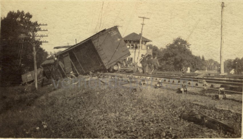 Train Wreck at Vernon Depot